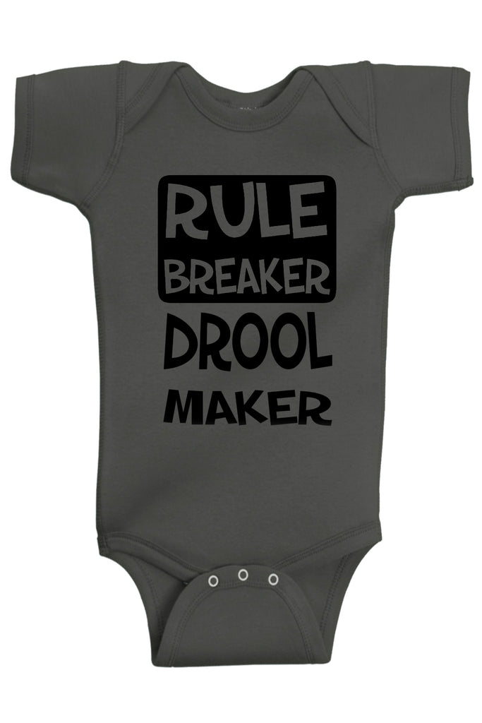 Rule Breaker Drool Maker Bodysuits - Aiden's Corner Baby Clothes