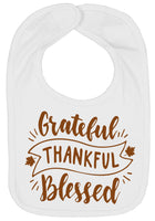 Grateful Thankful Blessed Thanksgiving Bibs - Aiden's Corner Baby Clothes