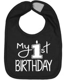 Handmade Boutique Style Baby Boy Girl Bibs - My 1st Birthday Bib