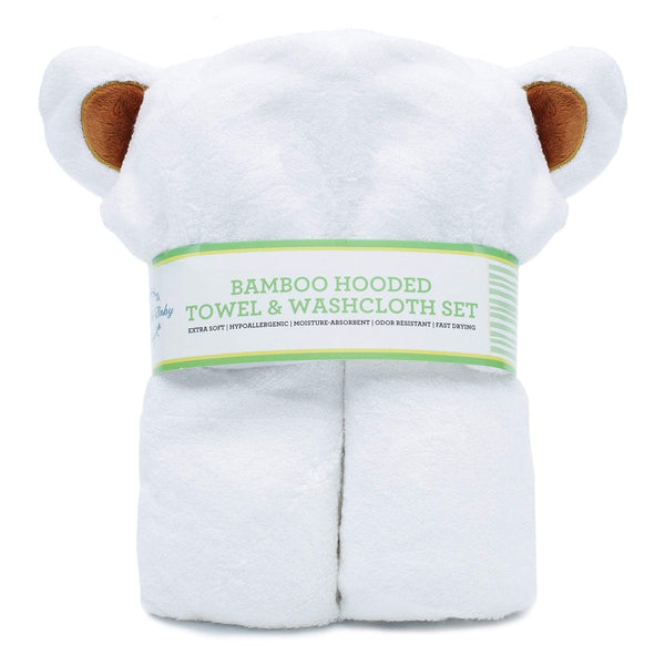 Towel and Washcloth Set by Arabella Baby - Aiden's Corner Baby & Toddler Clothes, Toys, Teethers, Feeding and Accesories