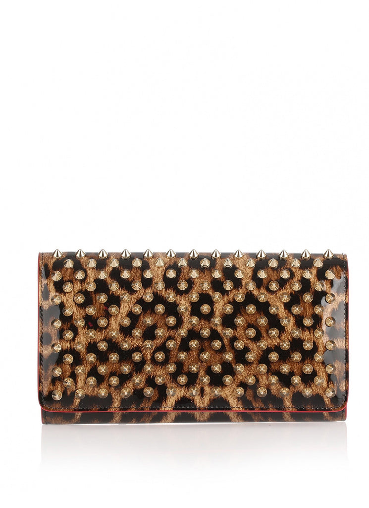 Macaron Continental Wallet Patent Leopard