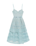 Paisley Mini Dress Icy Blue