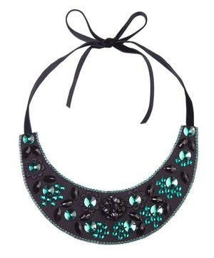 Velvet Embellished Necklace