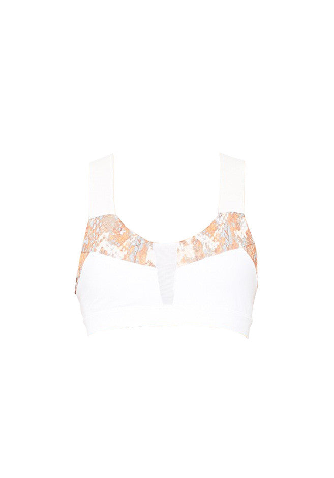 Paddle Fast Bra Tropical Peach Python