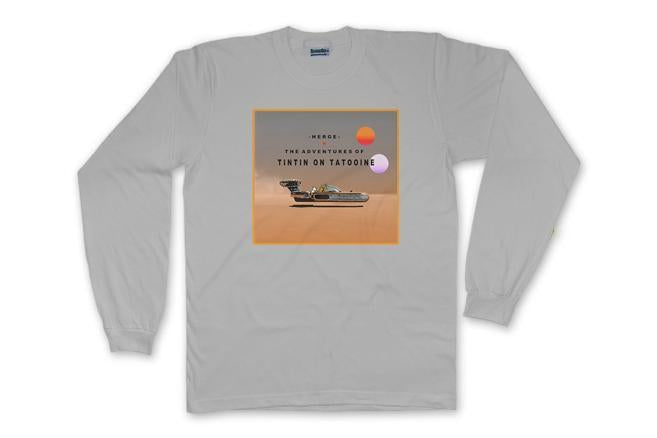 TINTIN ON TATOOINE - LONG SLEEVE - The Bensin Clothing Company