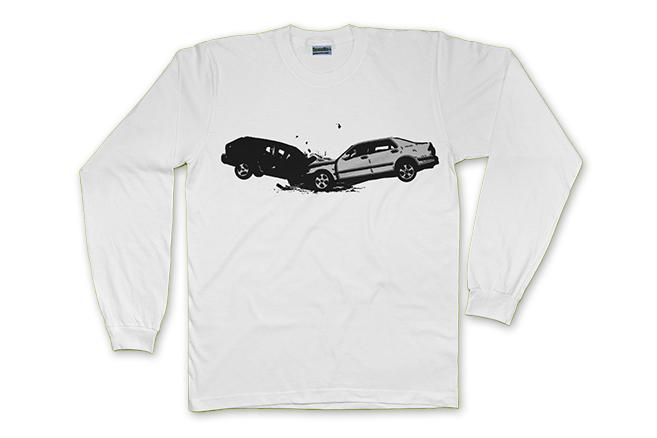 CAR CRASH - LONG SLEEVE - The Bensin Clothing Company