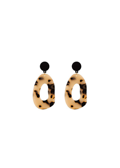 Earrings Abstract Tortoise