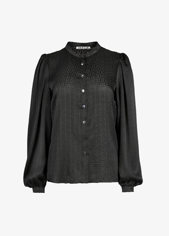 viscose blouse in grafische kant print