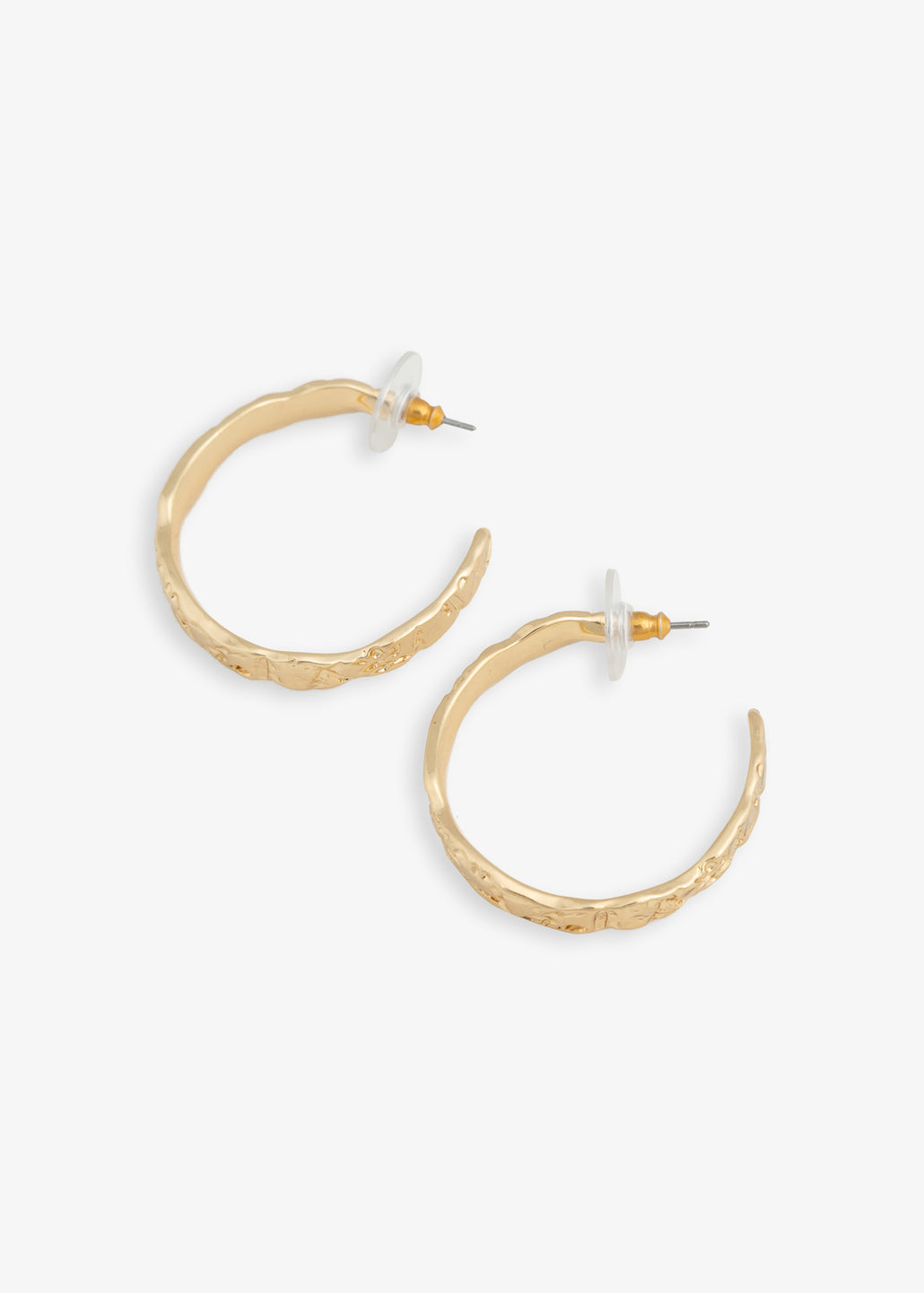 Pilgrim textured hoops big
