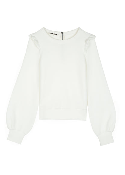 sweater met ruffles