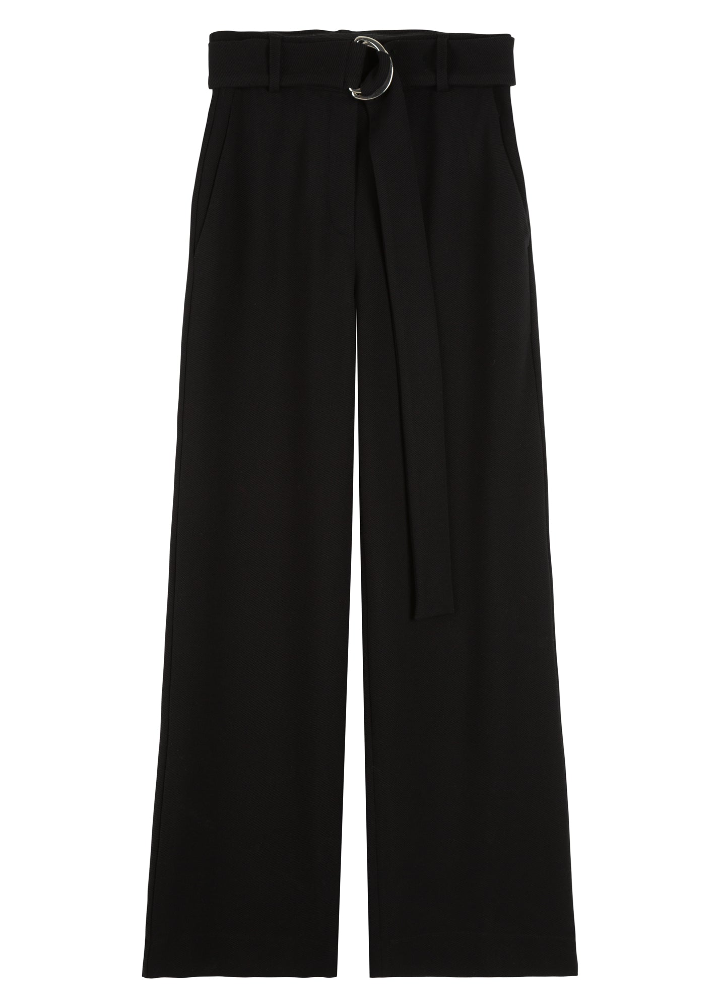 Loose-fit pantalon in ribbel
