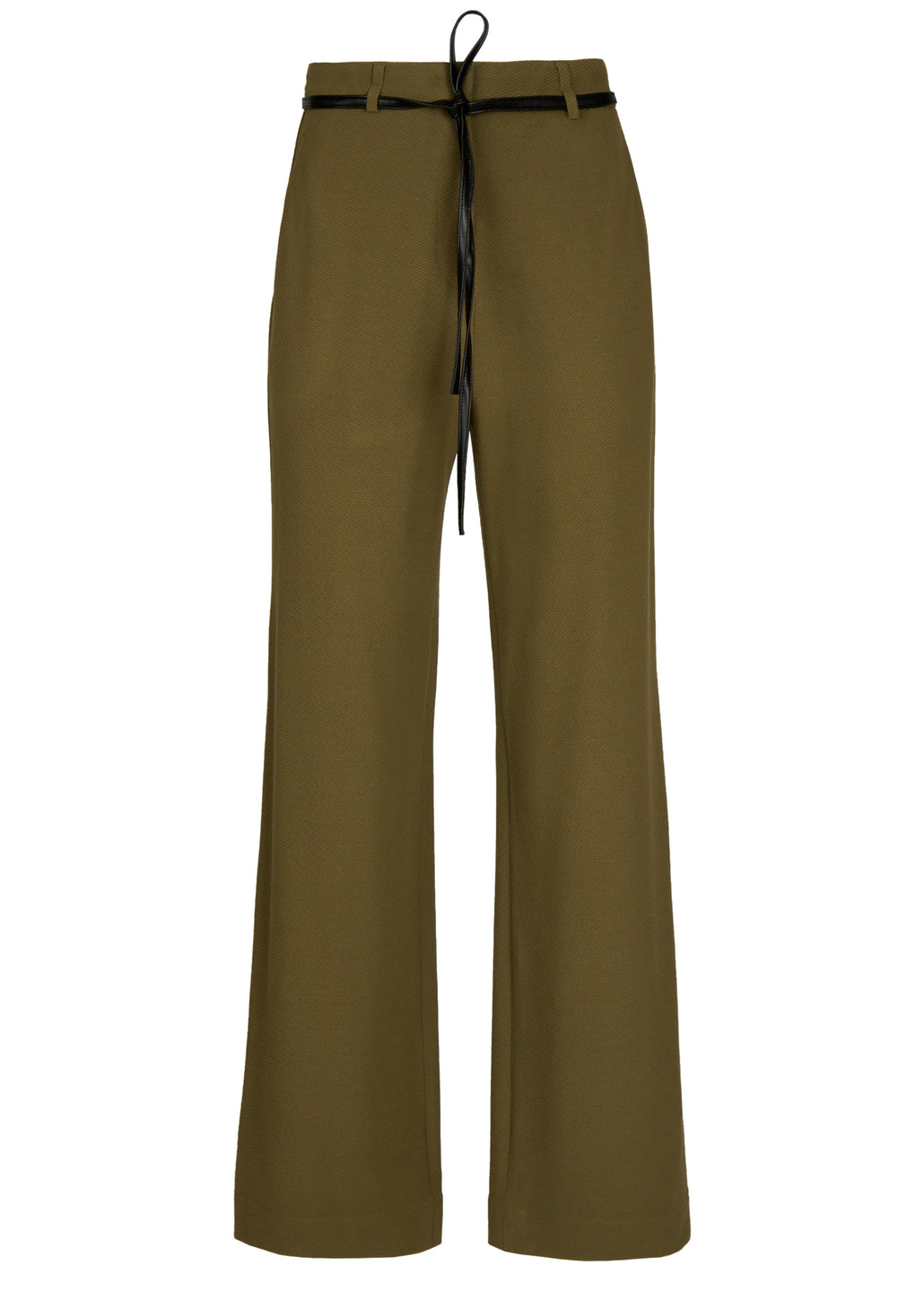 loose-fit pantalon in ribkwaliteit