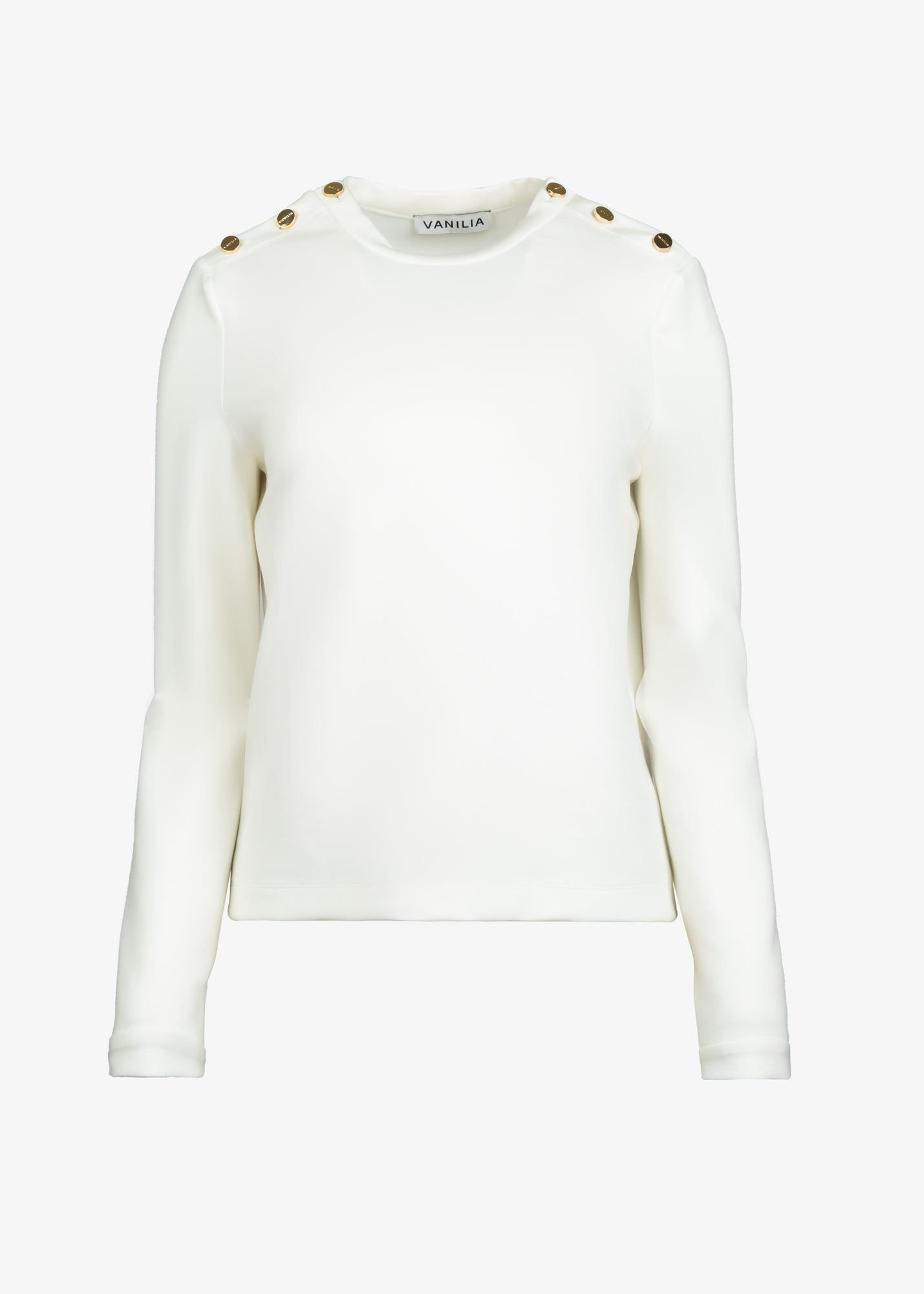 Witte top in foam stretch product foto