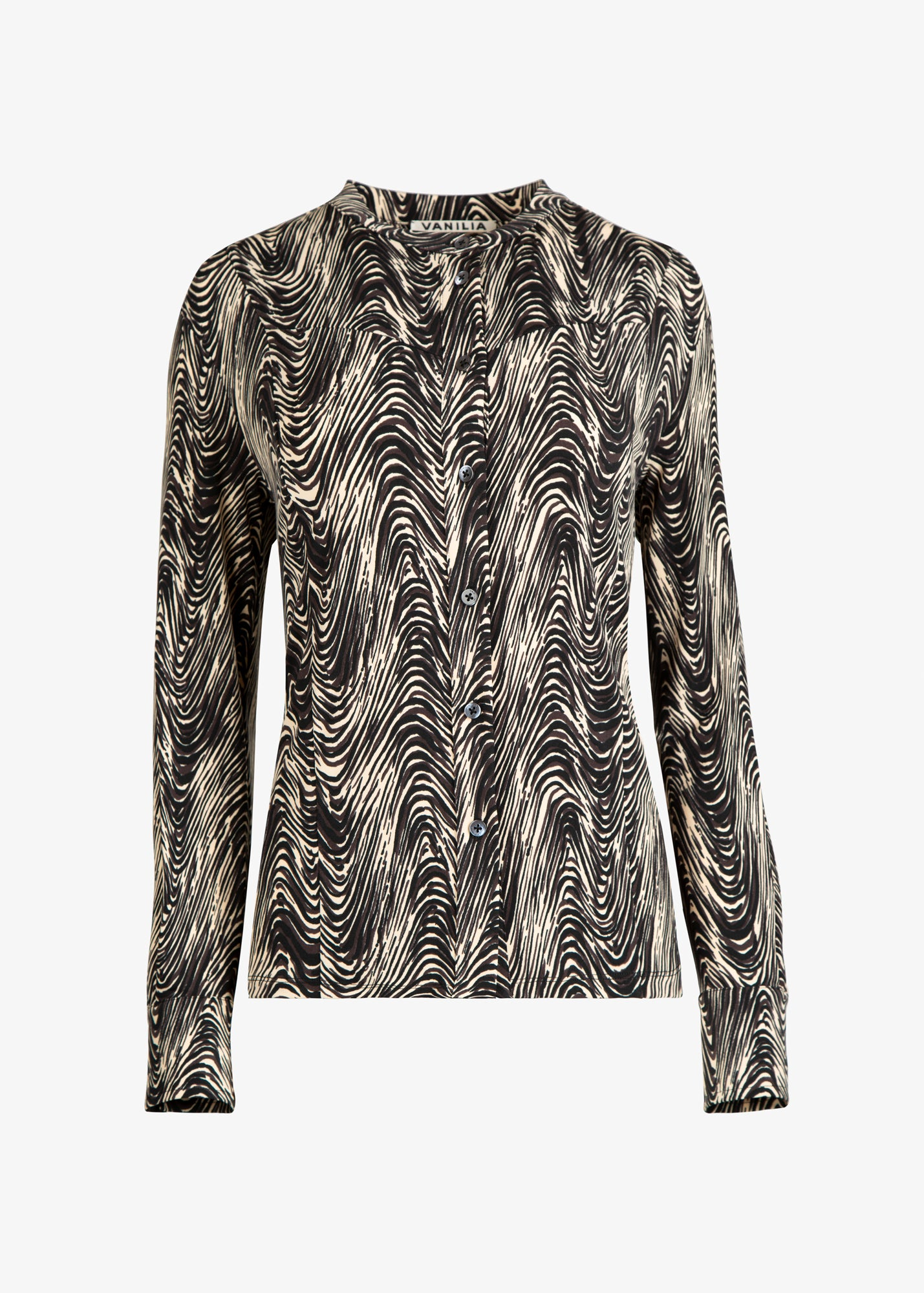 tricot blouse met grafische print