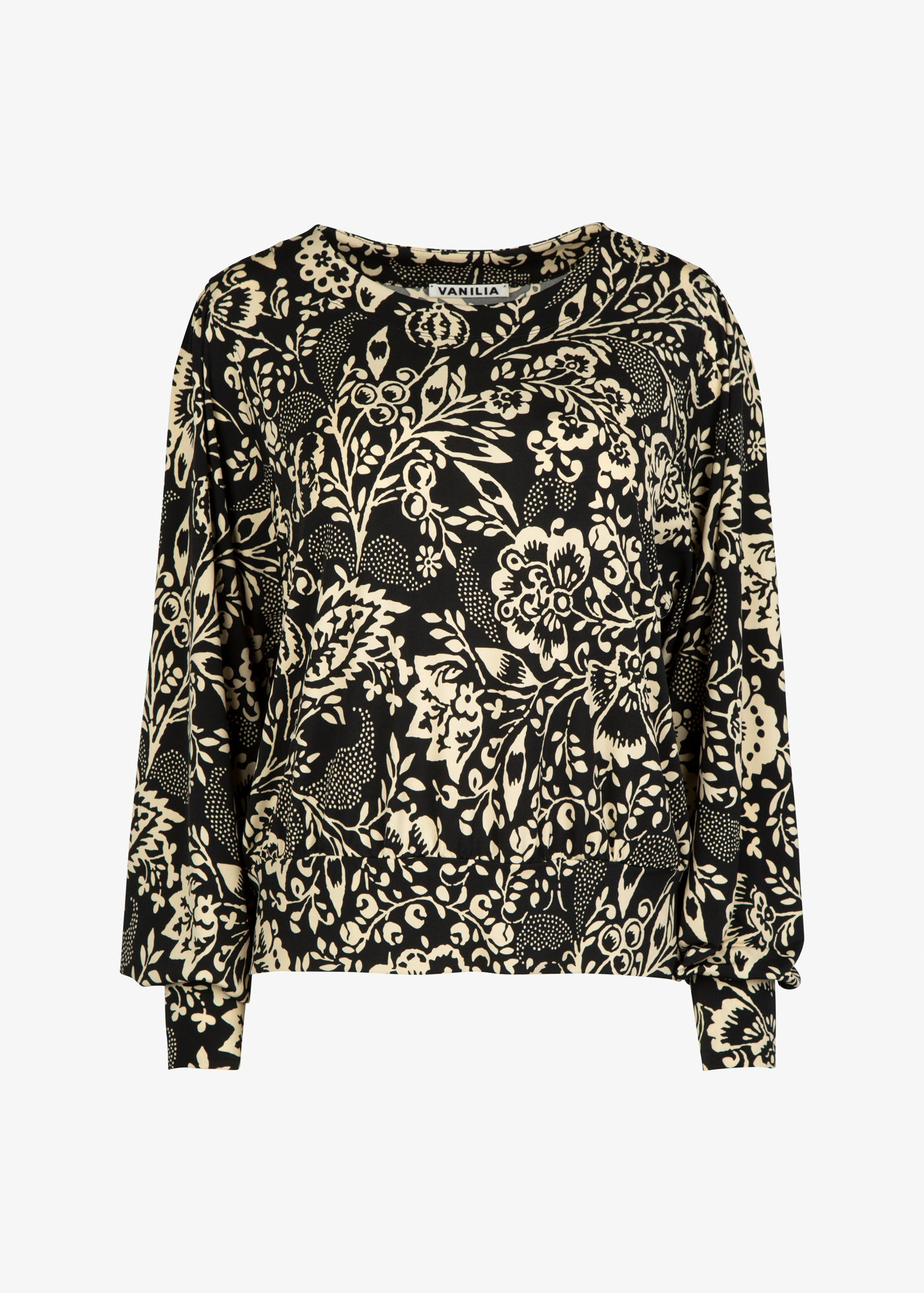 dames sweater met barok print