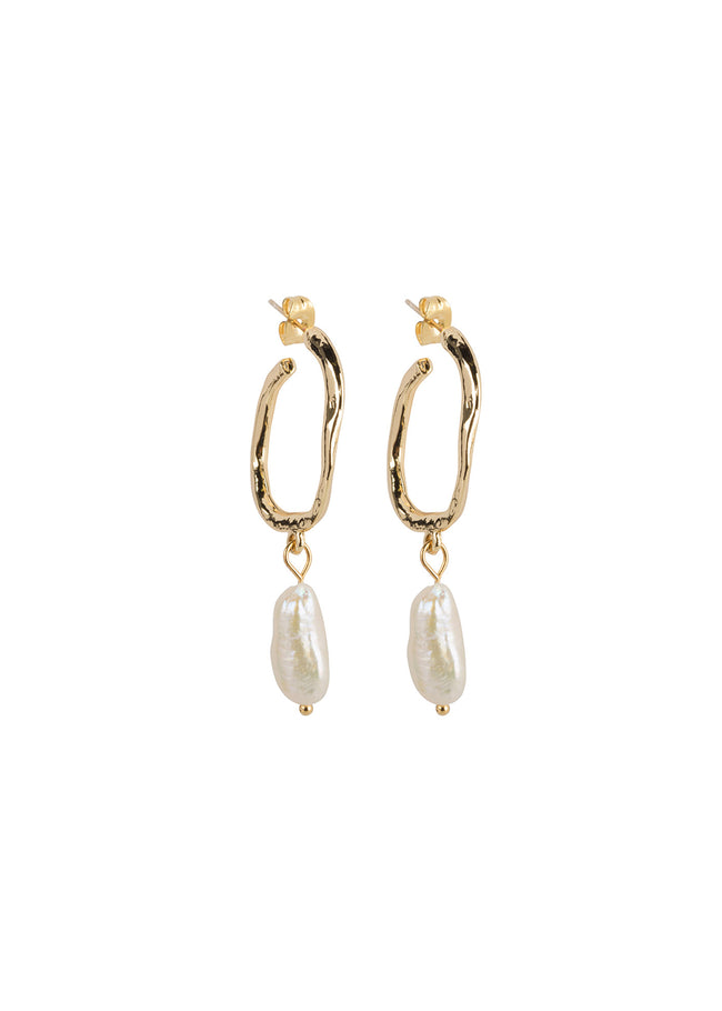 Earrings Hoops Pearls