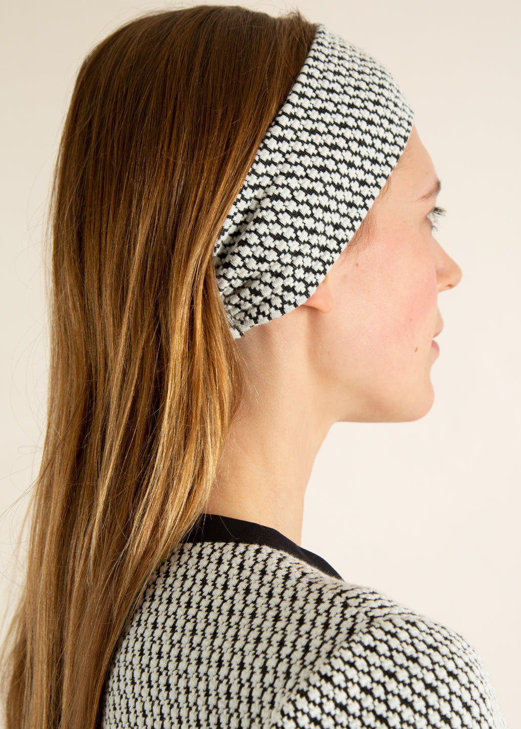 jacquard tricot haarband look