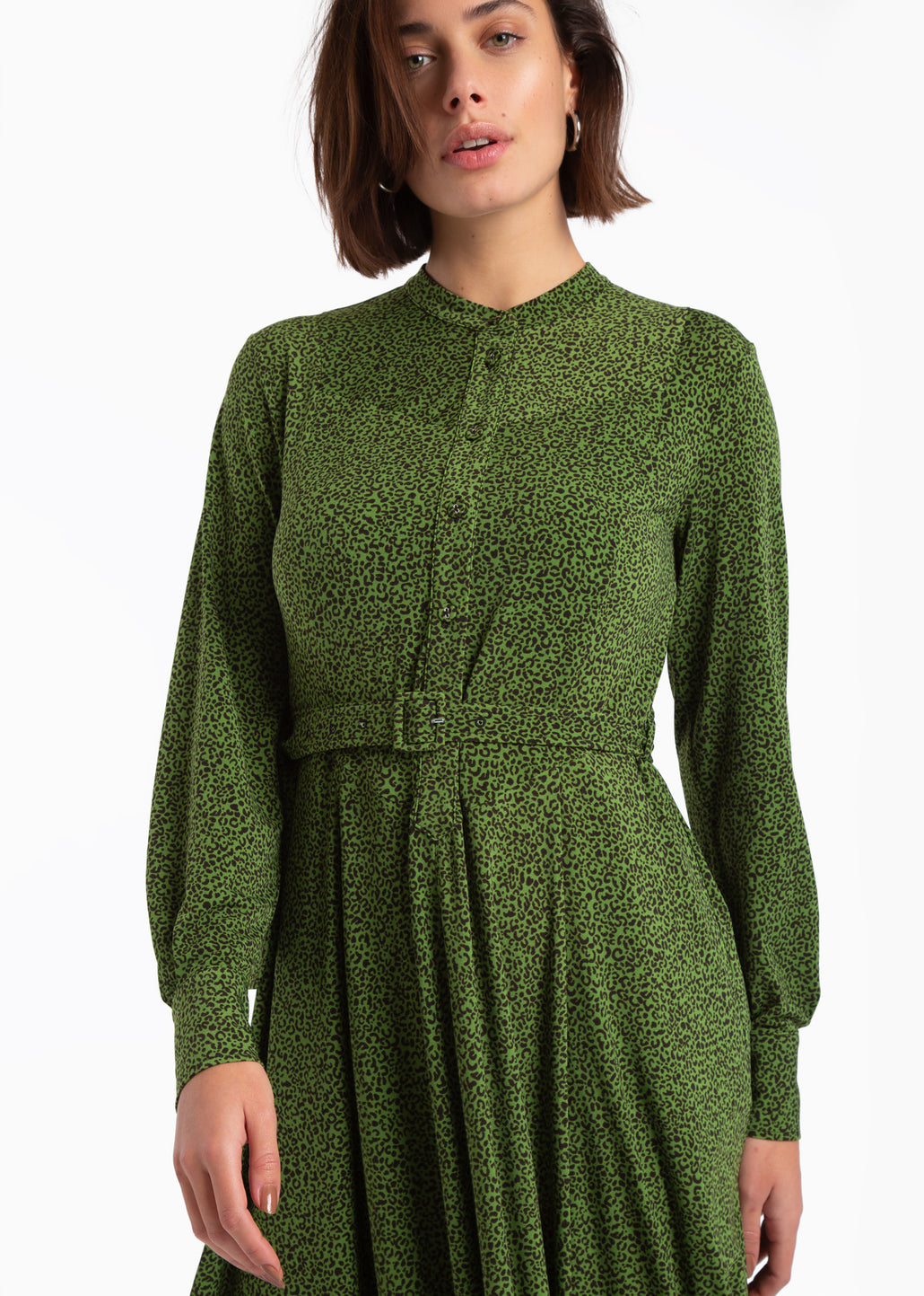 Tricot jurk met jungle dessin
