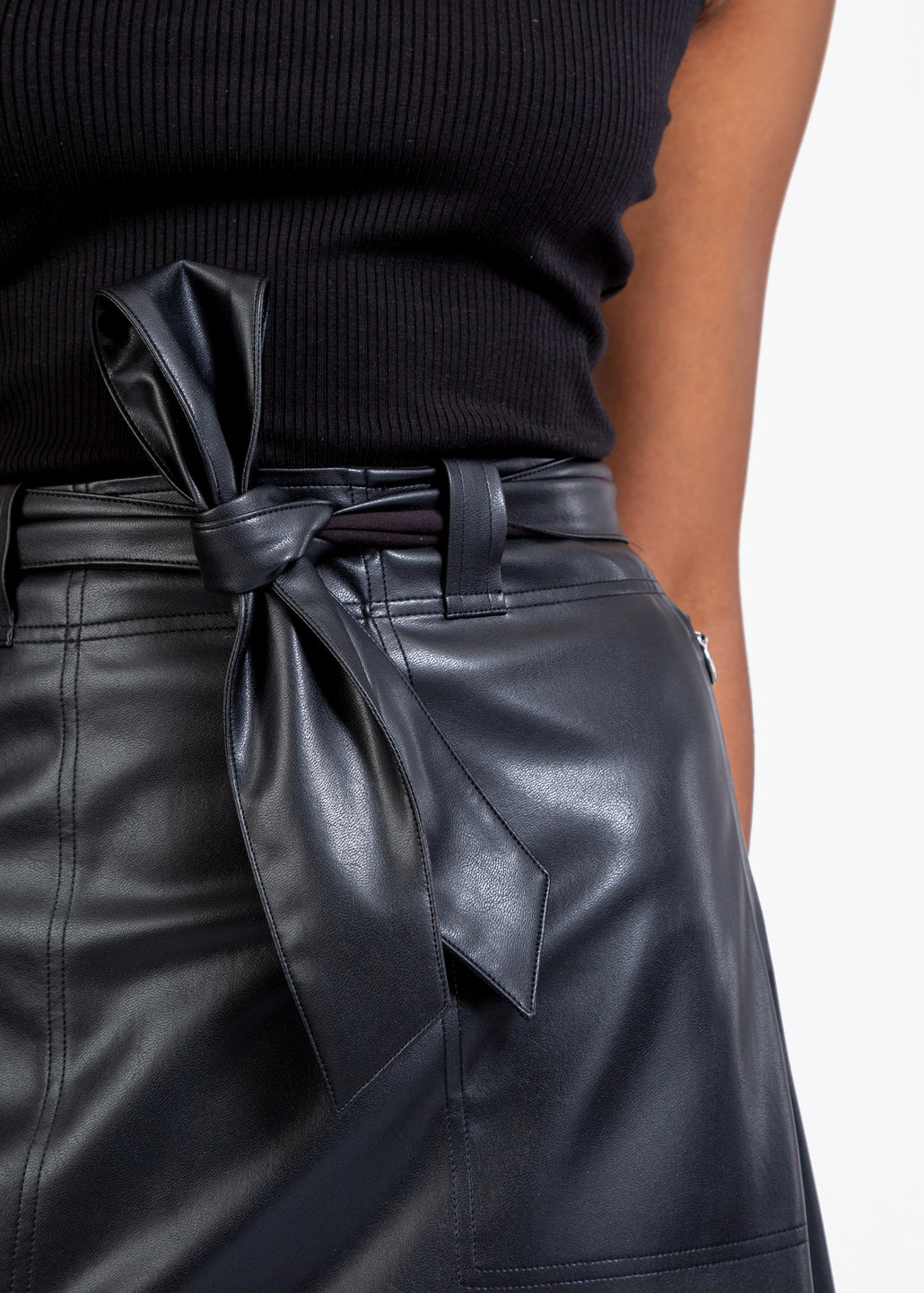 soft leather skirt