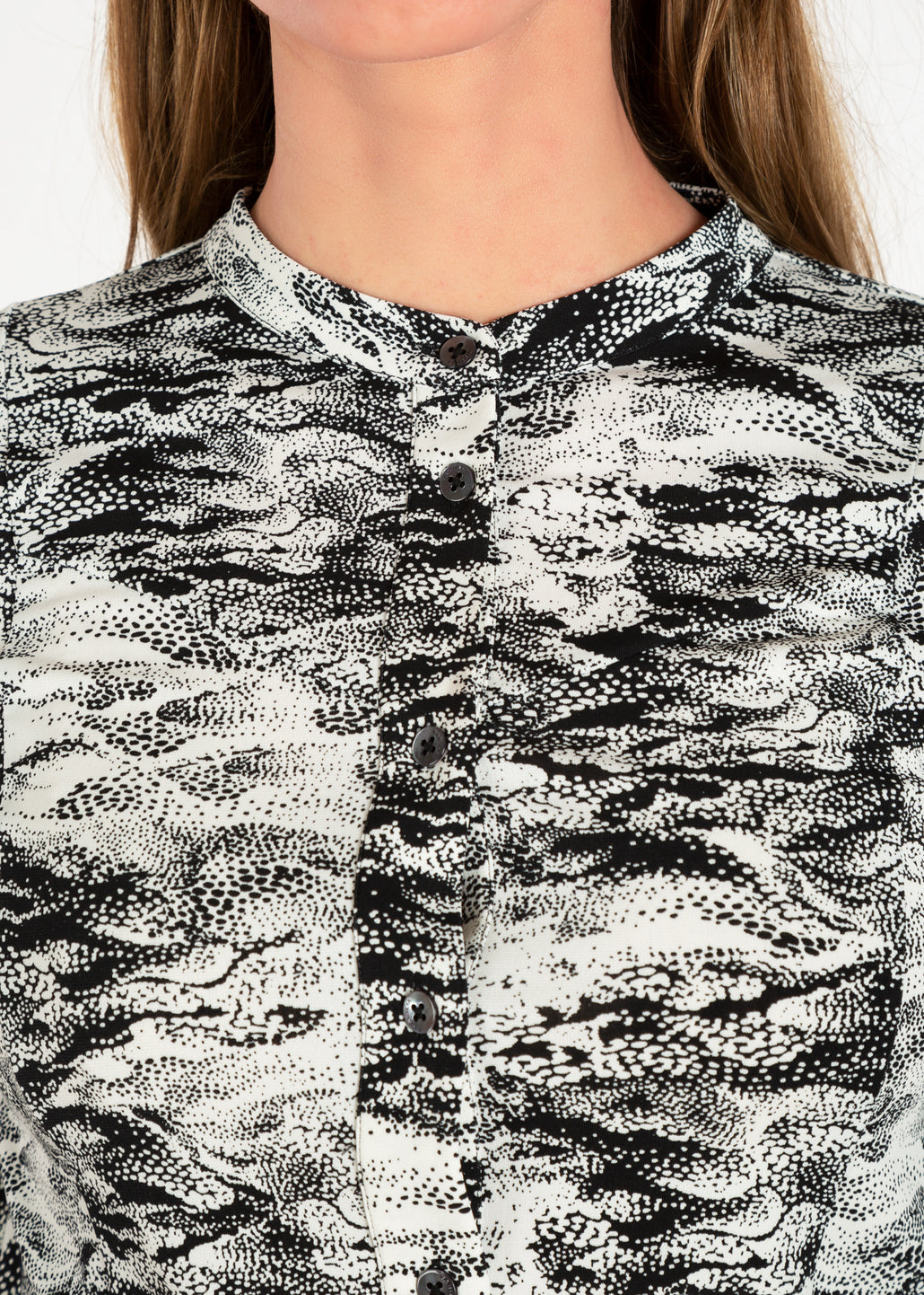Tricot blouse in two-tone dessin