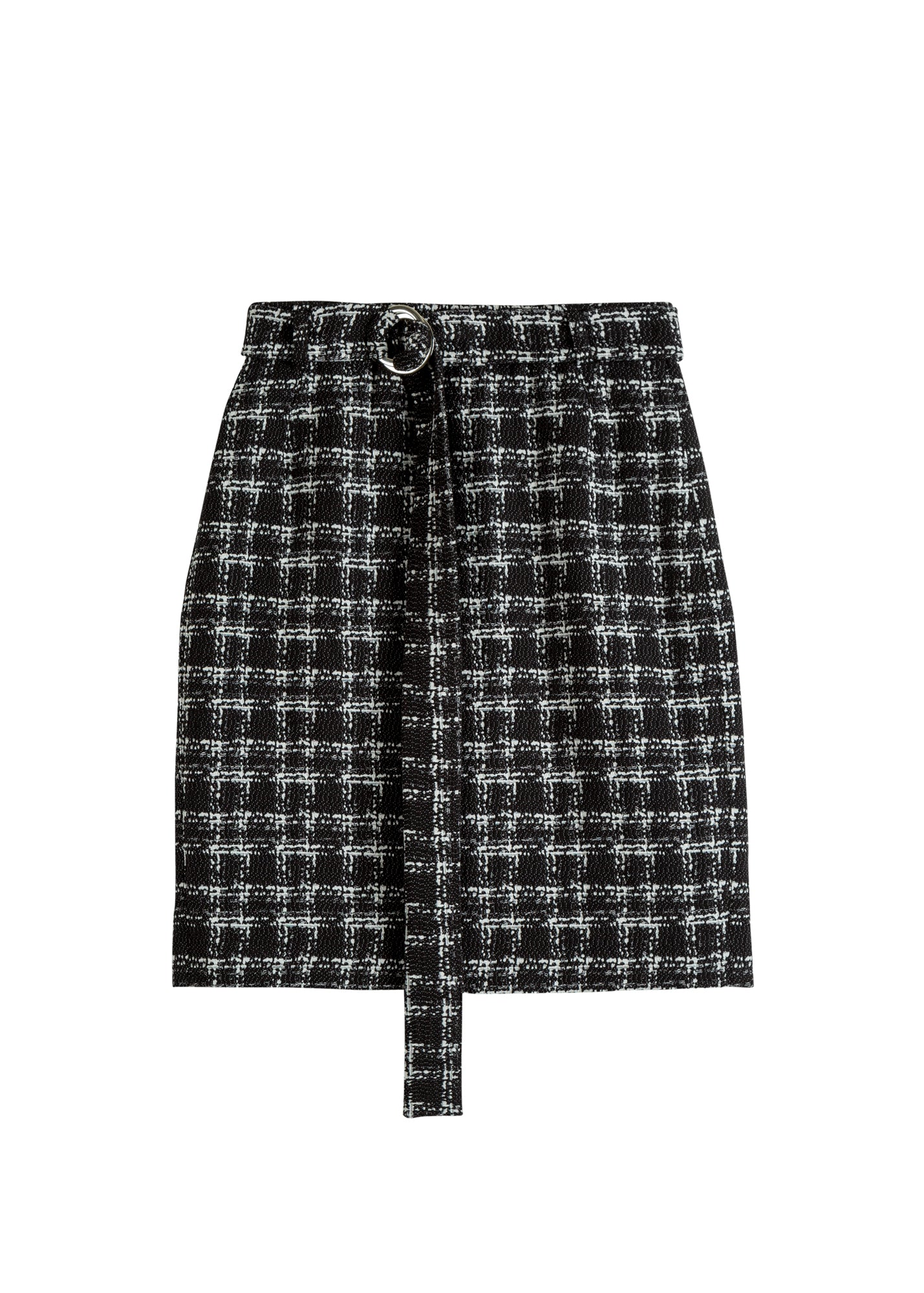 Skirt tweed check