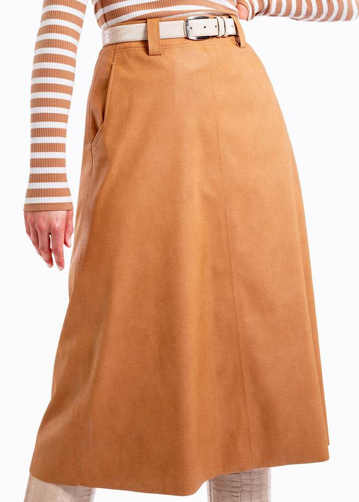 Rok tanned soft skirt