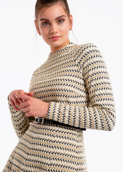 Tricot top met lurex