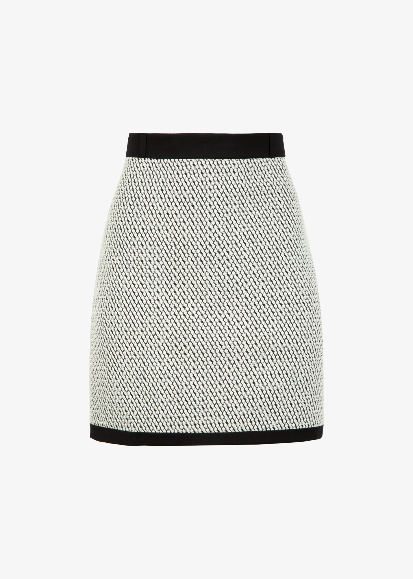 jacquard tricot rok met constrasterende band
