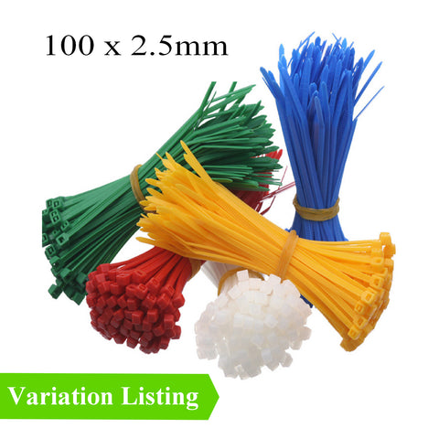 100 x Coloured Nylon Cable Ties 100 x 2.5mm<br>Menu Options