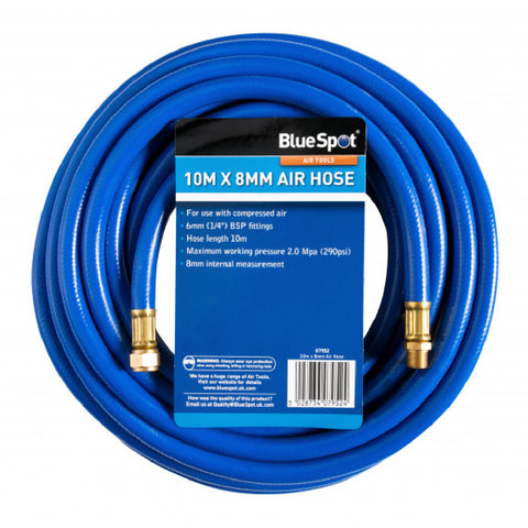 10m x 8mm Air Hose, up to 290 PSI Working Pressure