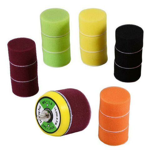 16 x Assorted Foam 50mm Polishing Pads with Backing Plate
