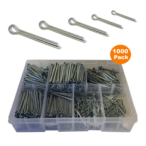 1000 x Assorted Metric Cotter Split Pins<br><br>