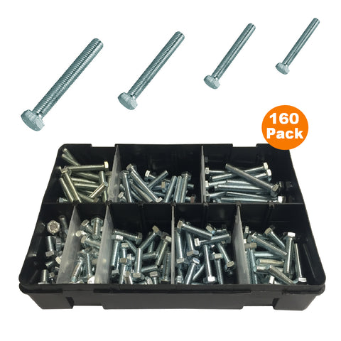 160 x Assorted Set Screw Bolts M6 Fully Threaded<br><br>
