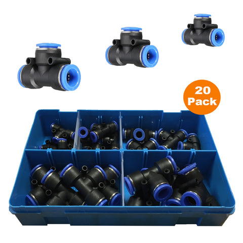 20 x Assorted Releasable Equal T Piece Speed Push Fit Connectors