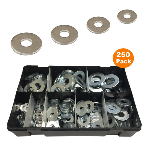 250 x Assorted Heavy Duty Washers Table 4 Imperial <br><br>