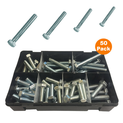 50 x Assorted Set Screw Bolts M10 Fully Threaded<br><br>