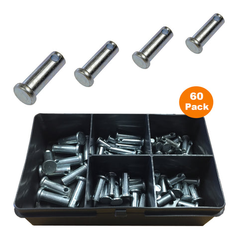 60 x Assorted Metric<br>Clevis Pins Fasteners<br><br>