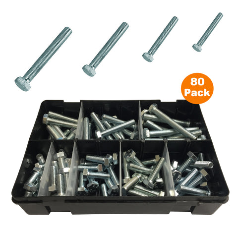 80 x Assorted Set Screw Bolts M8 Fully Threaded<br><br>