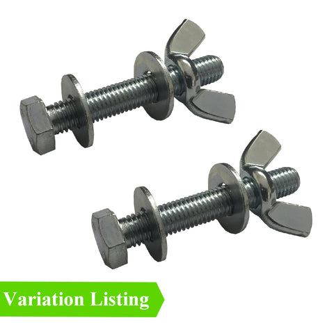 Set Screw Bolts M5 - M6 with Washers & Wing Nuts<br>Menu Options