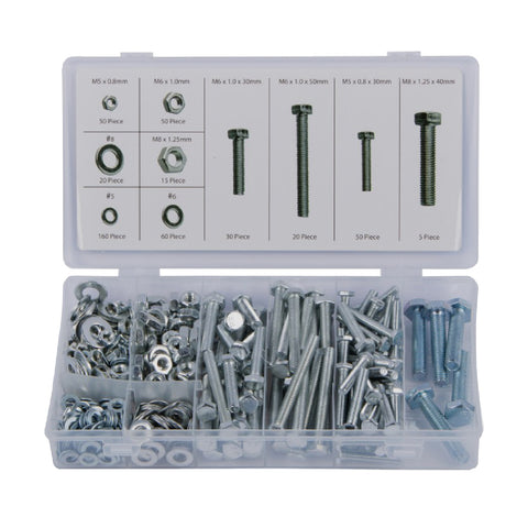 460 x Assorted Set Screw Bolts, Washers & Nuts<br><br>