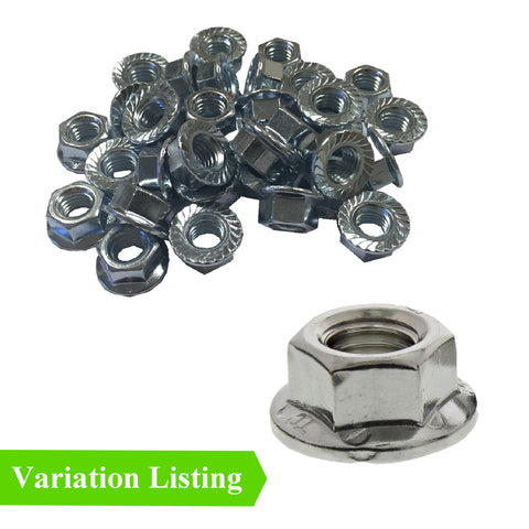 Flanged Serrated Hex Nuts to Fit Metric Bolts<br>Menu Options