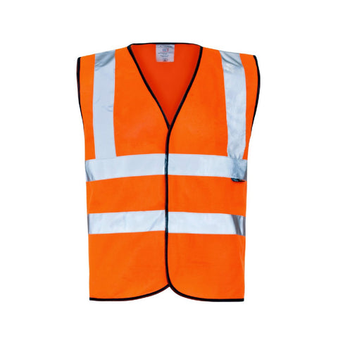 Orange High Visibility Safety Vest <br><br>