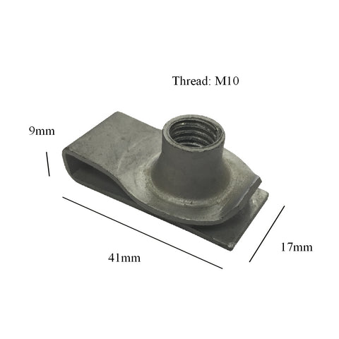 Chimney Lug Nuts M10 Self Tapping U Clips<br>Menu Options