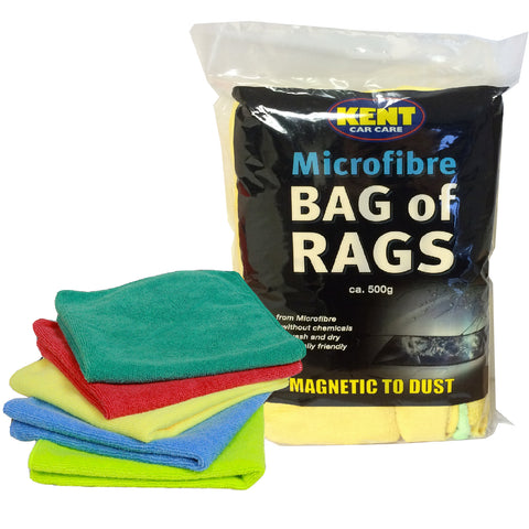 500g Microfibre Cleaning Cloths, Care Car Polishing Rags