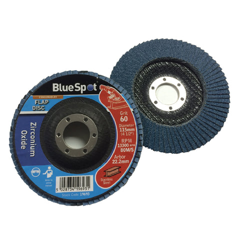 Flap Wheel 60 Grit Sanding Discs 115mm Zirconium Oxide