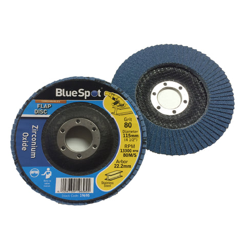 Flap Wheel 80 Grit Sanding Discs 115mm Zirconium Oxide