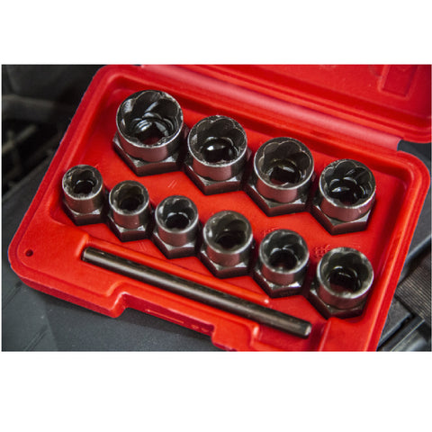 10 PCE Chrome Steel Bolt Remover Set 9-19mm, Including Plastic Case