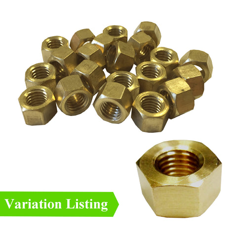 Brass Imperial Exhaust Manifold Nuts UNC <br>Menu Options<br>