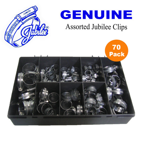 70 x Genuine Assorted Jubilee Clips Worm Drive<br><br>