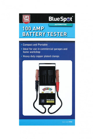 Heavy Duty 100 AMP Battery Tester, with Copper Plated Clamps